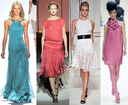 Модные платья креативность и